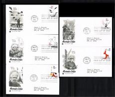 1998 - USA FDC Mi. 2943-47 - Art - Sculptures & Statues - Alexander Calder [P16_334] - 1991-2000