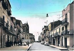 B4918 - S. Caterina Villarmosa, Via Roma E Chiesa Delle Grazie, Primi Colori, Viaggiata 1969 F. G. - Caltanissetta