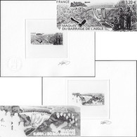 France 2016 Y&T 5078. Épreuves D'artiste Double. Maquis Du Barrage De L'Aigle, Résistance, Parachutes, Avions, Aigle - Seconda Guerra Mondiale