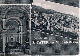 B4920 - S. Caterina Villarmosa, Saluti 2 Vedute, Viaggiata 1956 F. G. - Caltanissetta