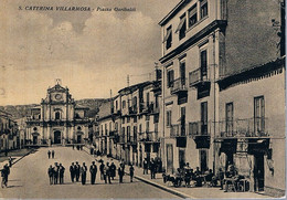 B4923 - S. Caterina Villarmosa, Piazza Garibaldi, Viaggiata 1957 F. G. - Caltanissetta