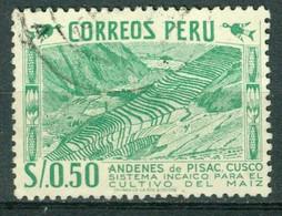 Bm Peru 1952 MiNr 526 [1953] Used | Inca Maize Terraces - Perù