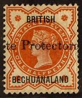 1890 ½d Vermilion, Ovptd Protectorate (19mm), SG 55, Fresh Mint. For More Images, Please Visit Http://www.sandafayre.com - Unclassified