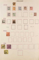 """1876-1952 IMPRESSIVE USED COLLECTION ON LARGE LEDGER PAGES Incl. 1876-79 """"CC"""" To 48c (2), 1878 Provisional SG 139 & 145, - British Guiana (...-1966)"""