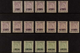 """1888-9 Surcharges On INLAND REVENUE Stamps, Complete Set Plus 4c Larger """"4"""" & 6c Straight Top, SG 175/89, 178a, 179a, So - British Guiana (...-1966)"""