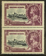 """1935 24c Slate And Purple, Silver Jubilee, Variety """"Dot By Flagstaff"""", SG 304h, Very Fine Never Hinged Mint. For More Im - British Guiana (...-1966)"""