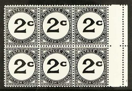 """POSTAGE DUES 1940 Marginal Block Of 6 Stamps, One Showing The Variety """"Crown Missing"""" From Wmk, SG D2ab, Never Hinged Mi - British Guiana (...-1966)"""