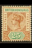1891-1901 25c Red Brown & Green, SG 61, Very Fine Mint For More Images, Please Visit Http://www.sandafayre.com/itemdetai - British Honduras (...-1970)