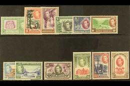 1938-47 Complete Definitive Set, SG 150/61, Fine Mint (12 Stamps) For More Images, Please Visit Http://www.sandafayre.co - British Honduras (...-1970)