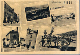 B4928 - Riesi, Saluti 6 Vedute, Viaggiata 1962 F. G. - Caltanissetta