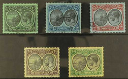 1922-33 Script Watermark 1s To 5s (less 4s), SG 83/86, 88, Fine Cds Used. (5 Stamps) For More Images, Please Visit Http: - Dominica (...-1978)