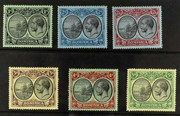 1923 KGV And Badge, Wmk Script CAvalues 1s To 5s, SG 83/88, Very Fine Mint. (6 Stamps) For More Images, Please Visit Ht - Dominica (...-1978)