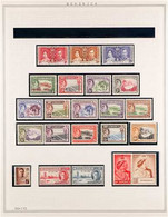 1937 - 1949 NEVER HINGED MINT COLLECTION Small Collection On An Album Page Complete From 1937 Coronation To 1948 Silver  - Dominica (...-1978)