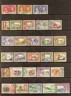 1937-1975 USED ASSEMBLY On Stock Pages, All Different, Includes 1938-47 Set, 1951 Set, 1954-62 Most Vals To $2.40, 1975  - Dominica (...-1978)