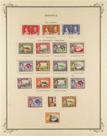 1937-1976 FINE MINT COLLECTION On Pages, All Different, Includes 1938-47 Pictorials Set, 1951 Set, 1954-62 Set, 1963-65  - Dominica (...-1978)