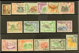 1951 Complete Definitive Set, SG 120/134, Very Fine Used. (15 Stamps) For More Images, Please Visit Http://www.sandafayr - Dominica (...-1978)