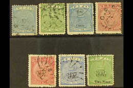 1871-1877 USED SELECTION Comprising 1871 1d And 3d (SG 10/11), 1872 2c On 1d And 12c On 6d (SG 13 & 15), 1876 Wove Paper - Fiji (...-1970)
