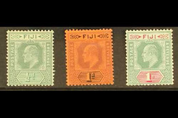 1904-09 Set Of Three, SG 115/117, Very Fine Mint. (3 Stamps) For More Images, Please Visit Http://www.sandafayre.com/ite - Fiji (...-1970)