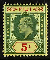 1906-12 KEVII5s Green & Red/yellow, MCA Wmk, SG 123, Very Fine Mint For More Images, Please Visit Http://www.sandafayre - Fiji (...-1970)
