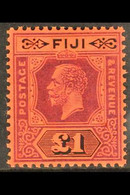 1912-23 £1 Purple And Black On Red, Die II, SG 137a, Very Fine Mint. For More Images, Please Visit Http://www.sandafayre - Fiji (...-1970)