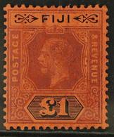 1912-23 £1 Purple & Black/red, MCA Wmk, Die I, SG 137, Very Fine Mint For More Images, Please Visit Http://www.sandafayr - Fiji (...-1970)