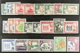 1938-55 KGVI Definitive Set, SG 249/266b, Fine Mint (22 Stamps) For More Images, Please Visit Http://www.sandafayre.com/ - Fiji (...-1970)