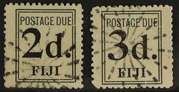 POSTAGE DUES 1917 2d & 3d Black, Wide Setting, SG D3/4, Very Fine Used (2). For More Images, Please Visit Http://www.san - Fiji (...-1970)