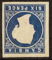 1874 6d Deep Blue, Watermark Crown CC INVERTED, Imperf, SG 7w, Unused, Four Large Margins, Cat.£700. For More Images, Pl - Gambia (...-1964)