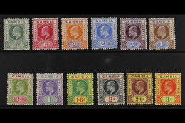 1902 Ed VII Set Complete, Wmk CA, SG 45/56, Very Fine Mint. (12 Stamps) For More Images, Please Visit Http://www.sandafa - Gambia (...-1964)