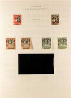 1922-9 KGV Defins, Wmk Mult Crown CA & Wmk Script CA Sets With Additional Shades (not Checked For Different Perfs Mentio - Gambia (...-1964)