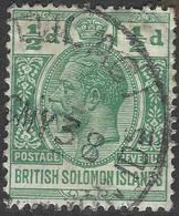 British Solomon Islands. 1922-31 KGV. ½d Used. Script CA W/M SG 39 - British Solomon Islands (...-1978)