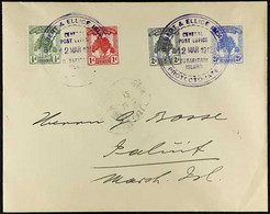 1911 Pandanus Pine Set Complete, SG 8/11, Superb Used On Cover To Marshall Islands, Cancelled With Large Violet Butarita - Gilbert & Ellice Islands (...-1979)
