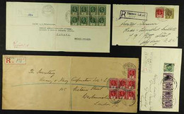 1914-40 TARAWA KGV COVERS GROUP An Attractive Group Of Covers That Includes A 1914 Cover Bearing 1d X7 Registered To Lon - Gilbert & Ellice Islands (...-1979)