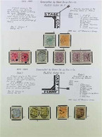 1875-1889 ATTRACTIVE USED COLLECTION WITH VARIETIES Written Up On Pages, Includes 1875-76 Perf 12½ Set, 1876-84 Perf 14  - Gold Coast (...-1957)