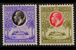 1928 2s And 5s Castles, SG 111/112, Fine Mint. (2 Stamps) For More Images, Please Visit Http://www.sandafayre.com/itemde - Gold Coast (...-1957)