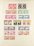 1937-54 MINT & NHM SETS COLLECTION Presented On Album Pages, Mostly As Pairs & Includes The 1938 Pictorial Set As Pairs, - Gold Coast (...-1957)