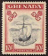 1938-50 10s Slate-blue & Carmine Lake (wide Frame) Perf 14, SG 163d (CW 26), Very Fine Mint, Fresh. For More Images, Ple - Grenada (...-1974)