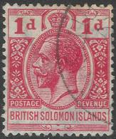 British Solomon Islands. 1922-31 KGV. 1d Red Used. Script CA W/M SG 40 - British Solomon Islands (...-1978)