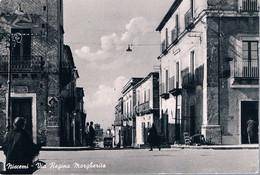 B4934 - Niscemi, Via Regina Margherita, Viaggiata 1955 F. G. - Caltanissetta