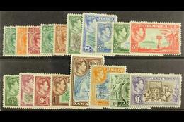 1938-52 Complete KGVI Definitive Set, SG 121/133a, Very Fine Mint. (18) For More Images, Please Visit Http://www.sandafa - Jamaica (...-1961)