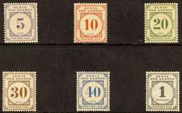 POSTAGE DUE 1928-33 Complete Set, SG D1/D6, Fine Mint (6 Stamps) For More Images, Please Visit Http://www.sandafayre.com - Vide