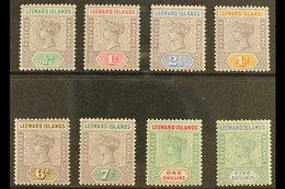 1890 Complete QV Key Plate Set, SG 1/8, Fine Mint. (8) For More Images, Please Visit Http://www.sandafayre.com/itemdetai - Leeward  Islands