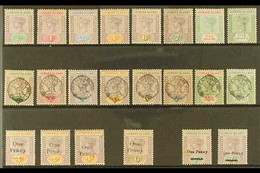 """1890-1902 COMPLETE QV MINT COLLECTION. A Complete Mint Collection, SG 1/19, That Includes The 1890 """"Tablet"""" Complete Set - Leeward  Islands"""