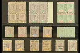 1890-1902 INTERESTING QV MINT SELECTION A Delightful Selection Presented On A Stock Card. Includes All Values Of The 189 - Leeward  Islands