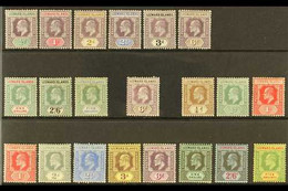 1902-1911 KEVII MINT SETS Presented On A Stock Card & Include The 1902 CA Wmk Complete Set (SG 20/28) & 1907-11 MCA Wmk  - Leeward  Islands