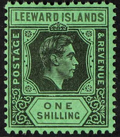 1938-51 1s Black & Grey On Emerald KGVI, SG 110bb, Never Hinged Mint, Very Fresh. For More Images, Please Visit Http://w - Leeward  Islands