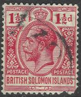 British Solomon Islands. 1922-31 KGV. 1½d Used. Script CA W/M SG 42 - British Solomon Islands (...-1978)