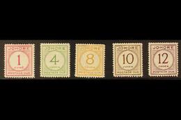 JOHORE POSTAGE DUES 1938 Complete Set, SG D1/5, Very Fine Mint (5 Stamps). For More Images, Please Visit Http://www.sand - Zonder Classificatie