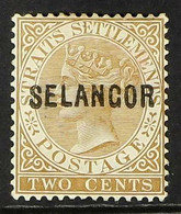 SELANGOR 1881-82 2c Brown Wmk CC Overprint With Narrow Letters, SG 3, Fine Mint, Fresh. For More Images, Please Visit Ht - Zonder Classificatie