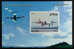 2009 IMPERF PROOF MINIATURE SHEET 25rCentenary Of Chinese Aviation & Aeropex Exhibition, Beijing Miniature Sheet As SG  - Maldives (...-1965)